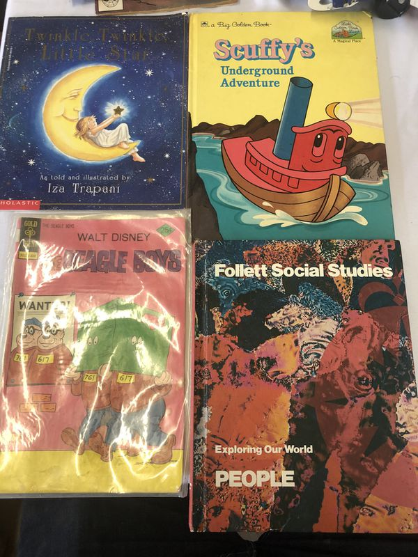 4 vintage books. (B4) 3 books and one comic book 80's and 90's