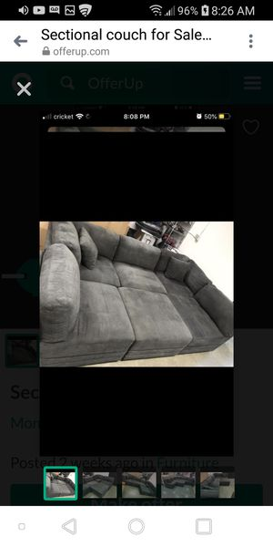 Sectional couch grey for Sale in Monroe, WA