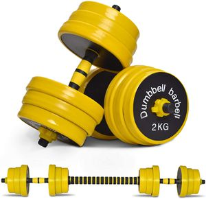 Nice C Adjustable Dumbbell Barbell Weight Pair, Free Weights 2-in-1 Set, Non-Slip Neoprene Hand, All-Purpose, Home, Gym, Office 22/33/44/55/66 lbs for Sale in Long Beach, CA