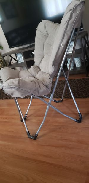 Grey Suede folding chair for Sale in Chico, CA