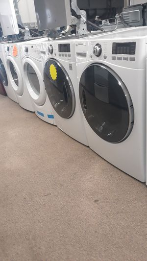 Front load washer and dryer set excellent condition for Sale in Maryland City, MD
