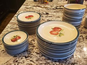 67 piece China Pearl Apple dish set for Sale in Long Grove, IL