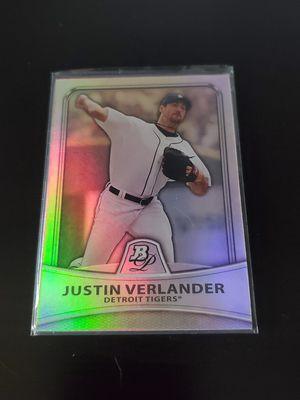 2010 Bowman Justin Verlander 51 Platinum Refractor #856/999 Baseball Card for Sale in Compton, CA