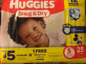 Size 5 Huggies Diapers for Sale in Syracuse, UT