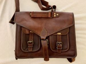 Custom made Vintage Leather Messenger Bag for Sale in San Marino, CA
