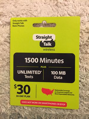 Straight talk basic phone plan $25, negotiable. for Sale in San Angelo, TX