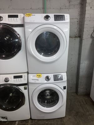 Samsung front load washer and electric dryer set in excellent condition with 4 months warranty for Sale in Baltimore, MD