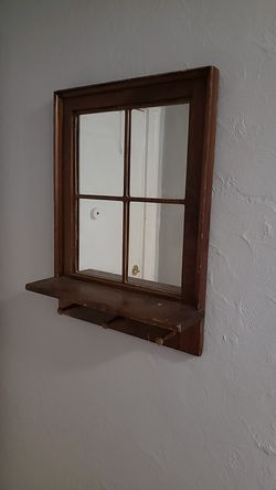 Wall mirror with coat hooks for Sale in Peabody,  MA