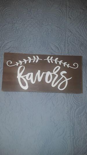 Wedding favor sign for Sale in Las Vegas, NV