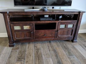 Real wood entertainment center, TV stand for Sale in Phoenix, AZ