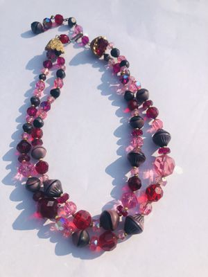 Antique glass double strand beads 16 inches excellent condition for Sale in South Bend, IN