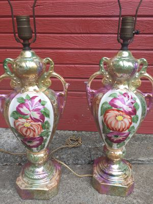 Antique hand painted lamps for Sale in Butler, PA