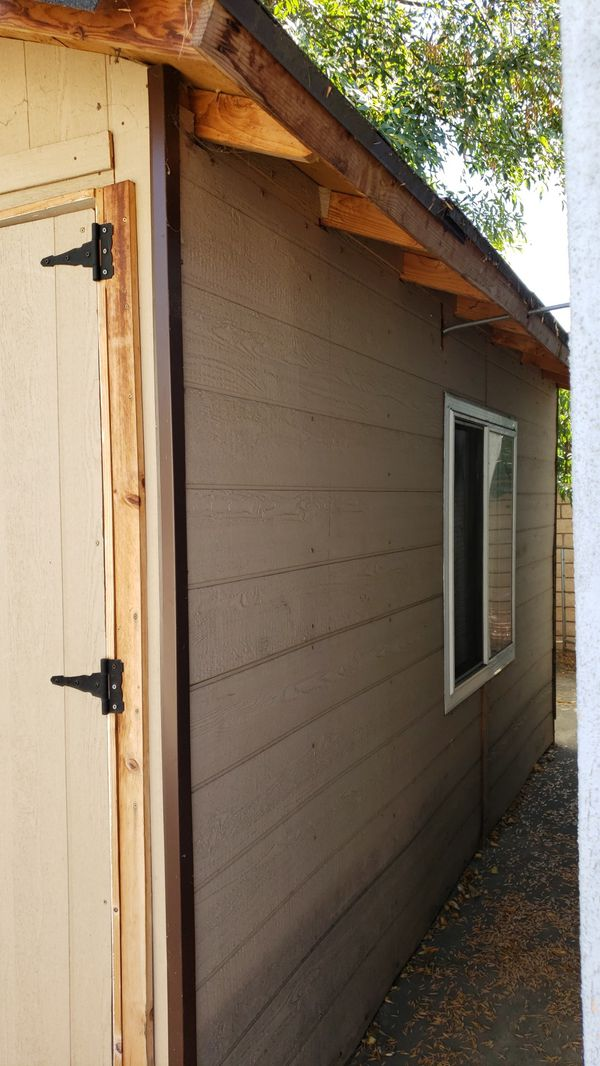 Storage shed w windows and air conditioning for sale, 9' x 14'