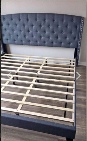 New King Size Grey Bed Frame for Sale in Austin, TX