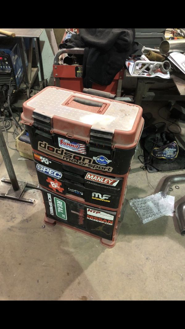 Craftsman mobile tool box with some tools