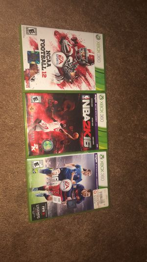 3 sports games for Sale in Marion, IL