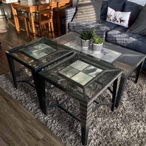 Living And Coffee Room Table (Set Of 3) for Sale in Raleigh, NC