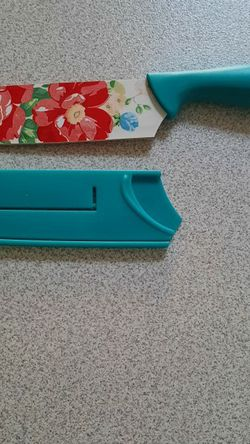 *pending Pickup *Pioneer Woman Floral Kitchen Knife With Guard for Sale in Elma,  WA