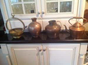 5- copper pots some vintage 24 each all$110 for Sale in West Chester, PA