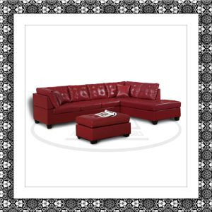 Red sectional with free ottoman and free shipping for Sale in Fairfax, VA