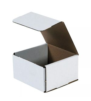50 White Corrugated 5x5x3 Shipping Boxes for Sale in Gilbert, AZ
