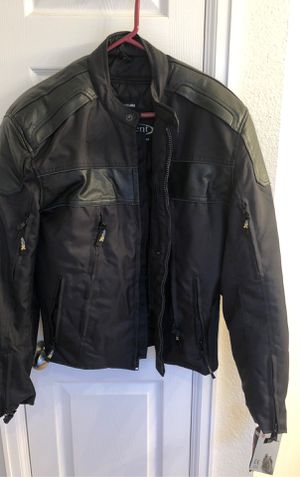 Men's XL Xelement Black motorcycle jacket for Sale in Euless, TX