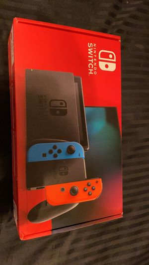 Nintendo Switch Console with Neon Blue & Red Joy-Con. for Sale in Buffalo Grove, IL