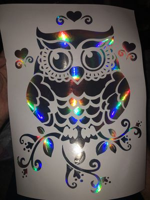 Holographic Owl Decal for Sale in Vacaville, CA