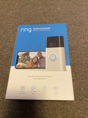 Ring Video Doorbell 2- Satin Nickel for Sale in Westbury, NY