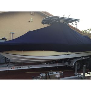 Boat Cover For 22-24 Ft Boat, Sunbrella Material $1500 When New/ In Perfect Condition Used Only Two Winters/ Price Is $500 for Sale in Miami, FL