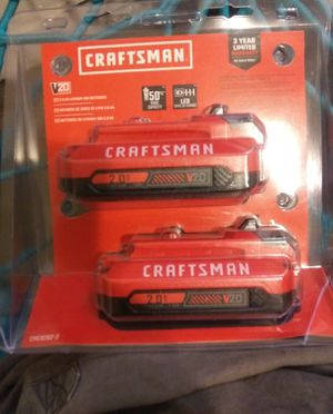 Craftsman 20v batteries for Sale in Spokane, WA