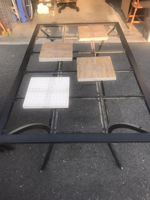 Outdoor patio dining table and 6 chairs. Two swivel chairs. Pads for all chairs. Tiles for table. for Sale in Roseville, CA