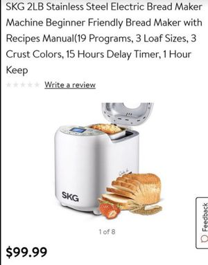 SKG Electric Bread Maker Machine (2 Lbs) for Sale in Ontario, CA