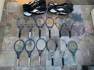 Tennis Rackets (Lot of 12) Babolat, Wilson, Prince, Gosen for Sale in Irvine, CA