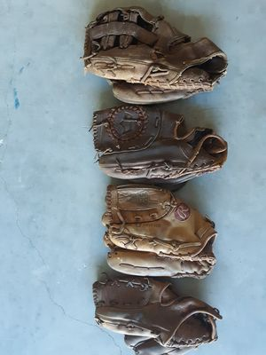 Leather Left Handed Baseball Gloves - $5 each for Sale in Land O Lakes, FL