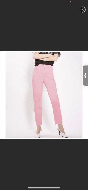 NWT TopShop Neon Pink High Rise Mom Jeans SIZE 28 for Sale in Miami, FL