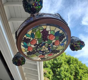 Stained Glass Chandelier Light for Sale in Riverside, CA