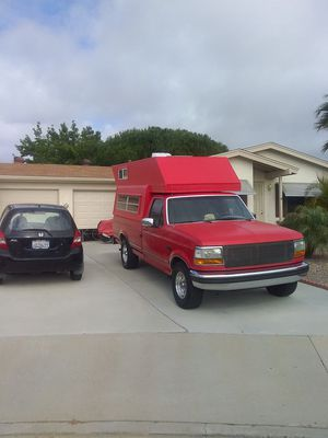 Ford pick up with custom camper shell still runs good needs some TLC $1,500 call Jim at {contact info removed} for Sale in Oceanside, CA