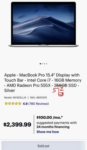 Brand New 2018 MacBook Pro w/ receipt for Sale in Chandler, AZ