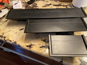 3 Black Wood Wall Shelves for Sale in Smithfield, VA