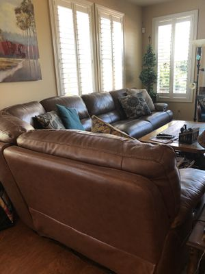 Leather couch for Sale in Carlsbad, CA