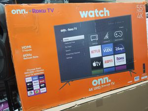 """55"""" LED SMART 4K ULTRA HDTV BY Onn. 1 year WARRANTY. Endless ENTERTAINMENT for Sale in Los Angeles, CA"""