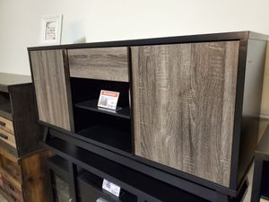 TV Stand up to 70in TVs, Distressed Grey & Black for Sale in Santa Ana, CA
