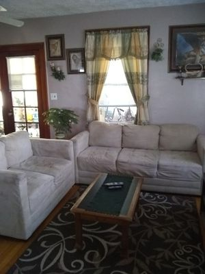 Micro fiber couch and loveseat...nice condition...$150 for Sale in Detroit, MI