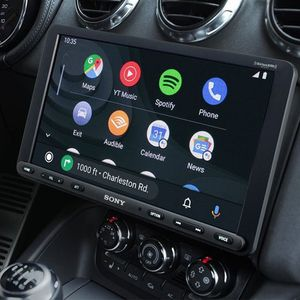 Car Stereo Single Din Sony XAV-AX8000 Full Kit W/Navigation, Wiring harness And Backup Camera Plus Microphone For Hands Free&Remote for Sale in Portland, OR
