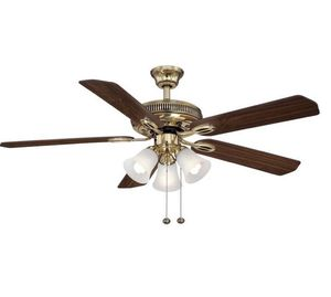 Glendale II 52 in. Indoor Flemish Brass Ceiling Fan with Light Kit Home and Garden TX for Sale in Houston, TX