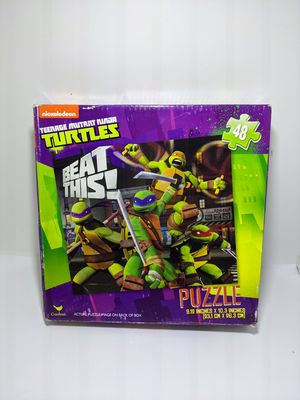 Nickelodeon Teenage Mutant Ninja Turtles TMNT 48 Piece Puzzle Game BEAT THIS! for Sale in Webster, MN