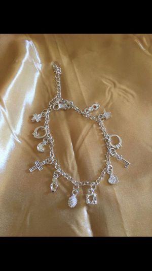 Charm silver bracelet , $5 for Sale in Burbank, CA