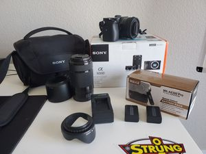 Sony A6000 Mirrorless Camera Bundle for Sale in Canyon Lake, CA