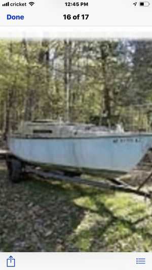 22ft McGregor sailboat with trailer. for Sale in Albany, NY